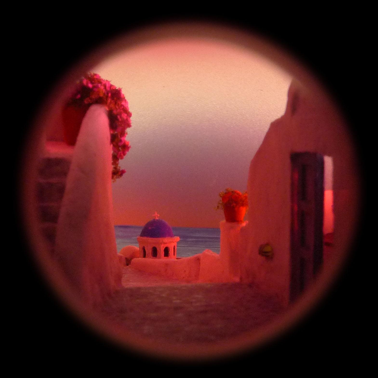 ボトルスコープ内部画像 サントリーニ島(ギリシャ)~夕暮れ~